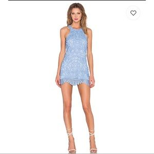 Lovers + Friends Blue Caspian Shift Mini Dress